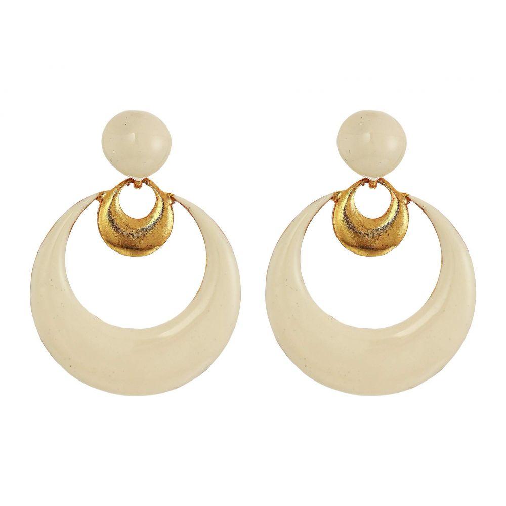 オスカー デ ラ レンタ Oscar de la Renta レディース ジュエリー・アクセサリー イヤリング・ピアス【Metal Moon Small Earrings】Ivory