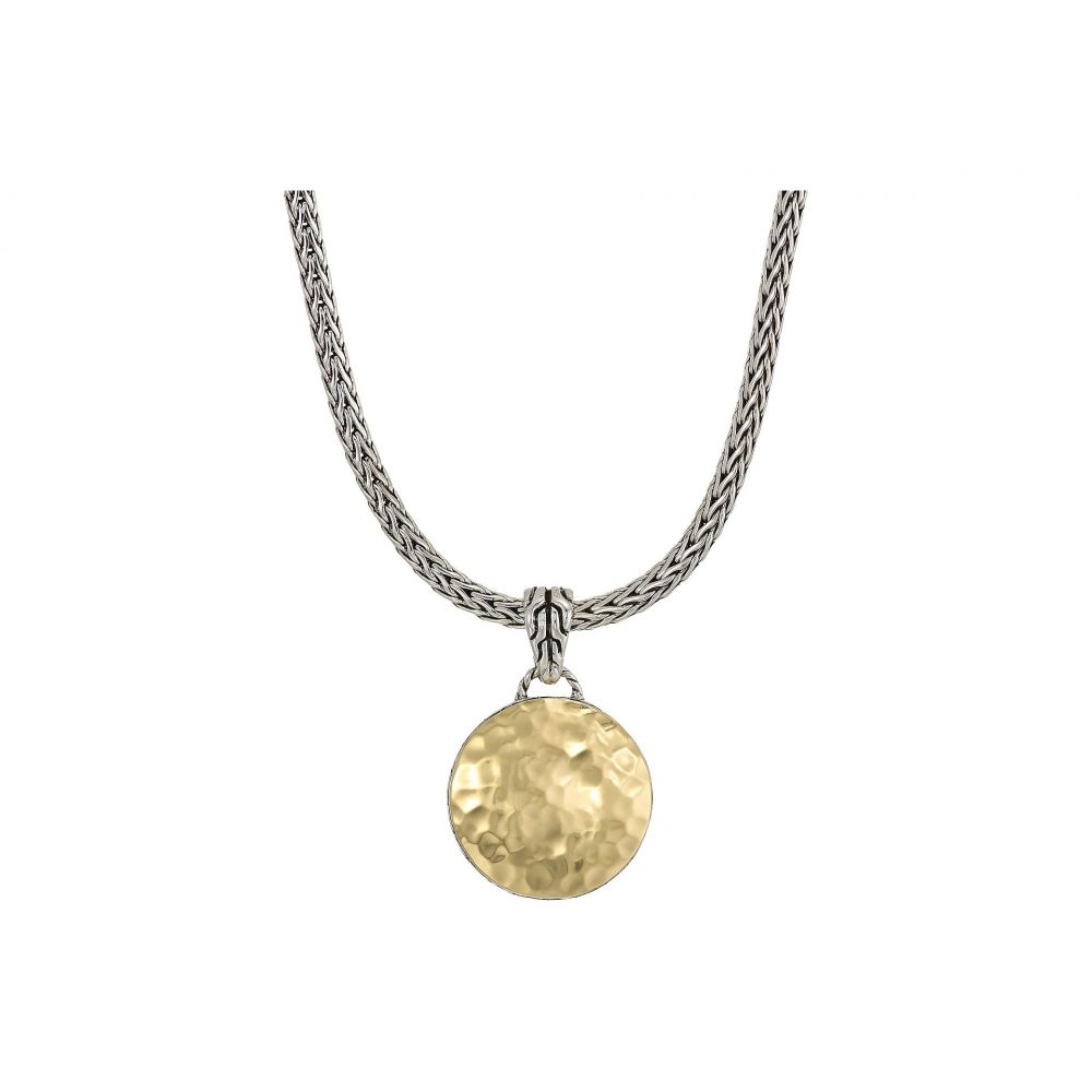 ジョン ハーディー John Hardy レディース ジュエリー・アクセサリー ネックレス【Dot Hammered Reversible Pendant Necklace】Silver/18K Gold