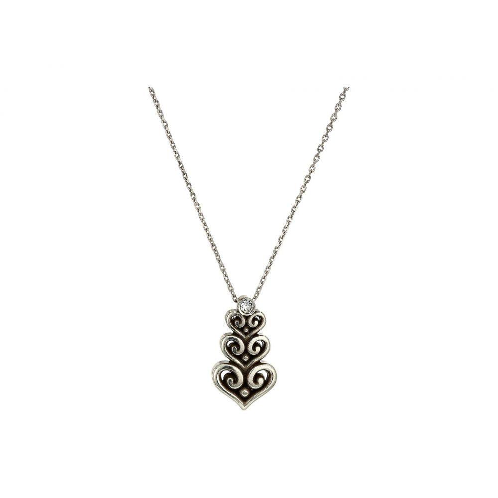 ブライトン Brighton レディース ジュエリー・アクセサリー ネックレス【Alcazar Heart Trio Short Necklace】Silver/Crystal