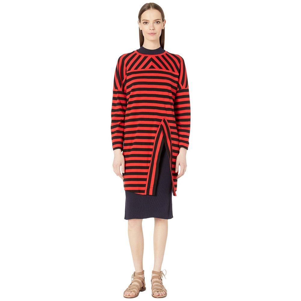 ソニア リキエル Sonia Rykiel レディース トップス スウェット・トレーナー【Jersey Striped Sweatshirt】Rouge Rykiel/Noir