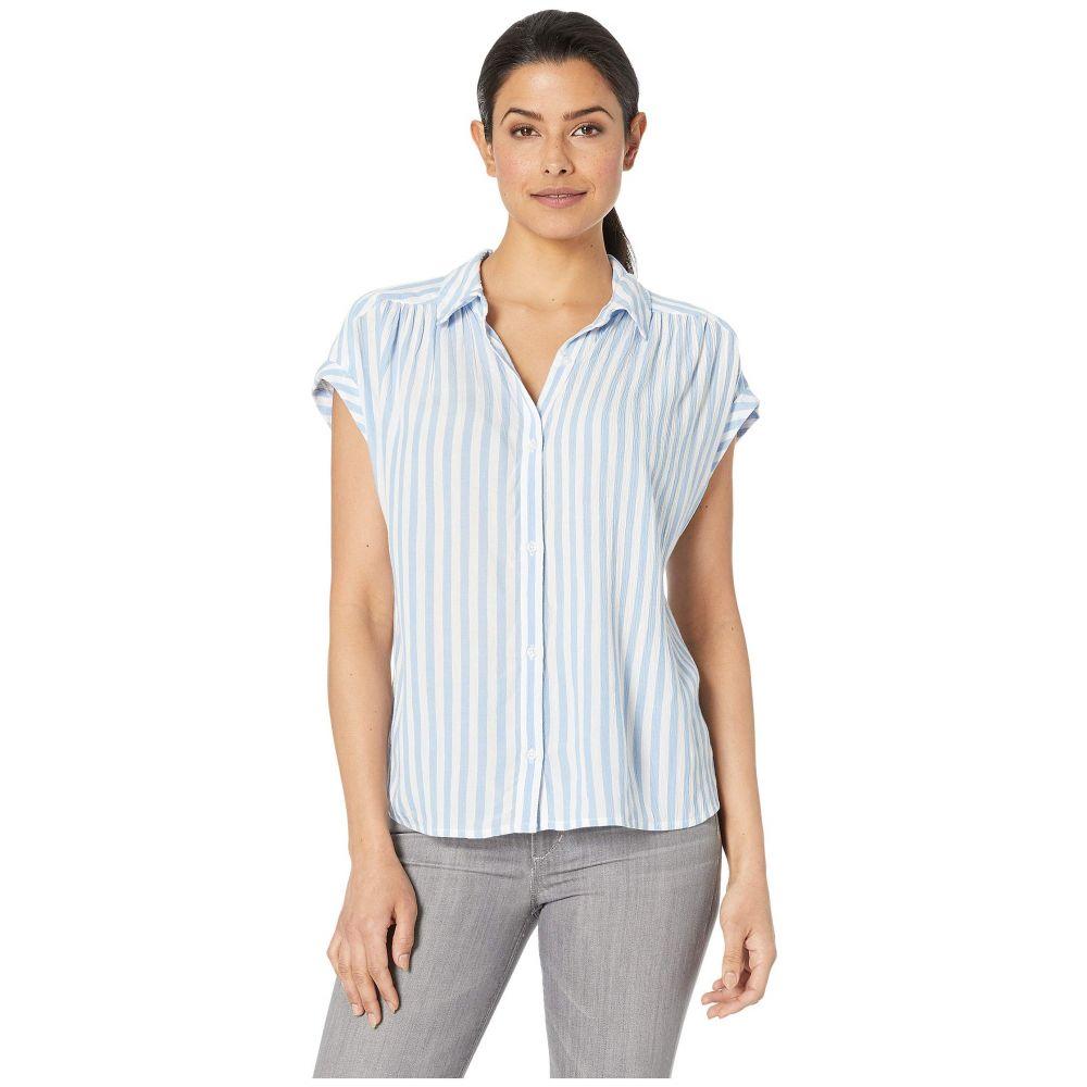 ラッキーブランド Lucky Shirt】Blue Brand レディース トップス トップス ブラウス・シャツ【Short Sleeve Multi Stripe Shirt】Blue Multi, TIARA:8c0500b5 --- sunward.msk.ru