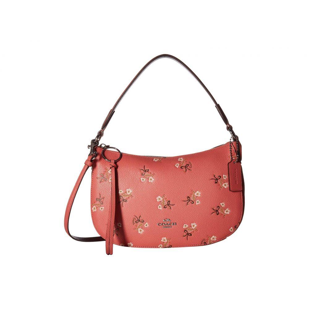 コーチ COACH レディース バッグ ショルダーバッグ【Floral Print Leather Sutton Crossbody】Bright Coral/Silver