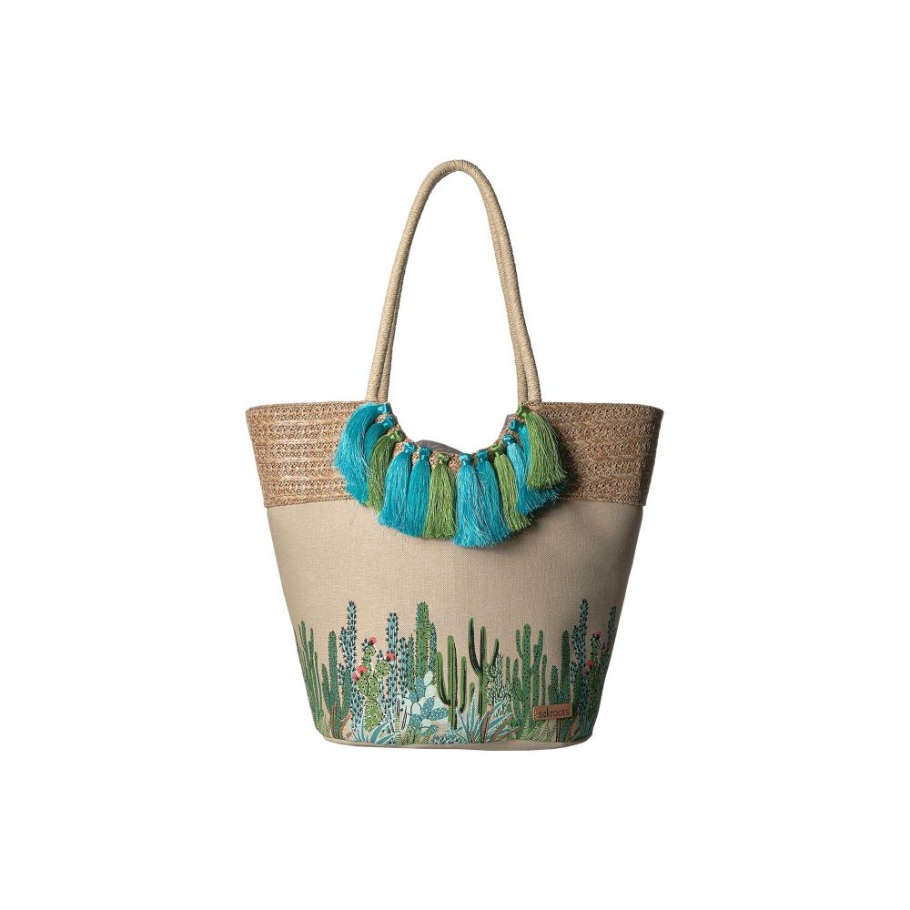 サックルーツ Sakroots レディース バッグ トートバッグ【Artist Circle Lola Beach Bag】Natural Mojave Mirage
