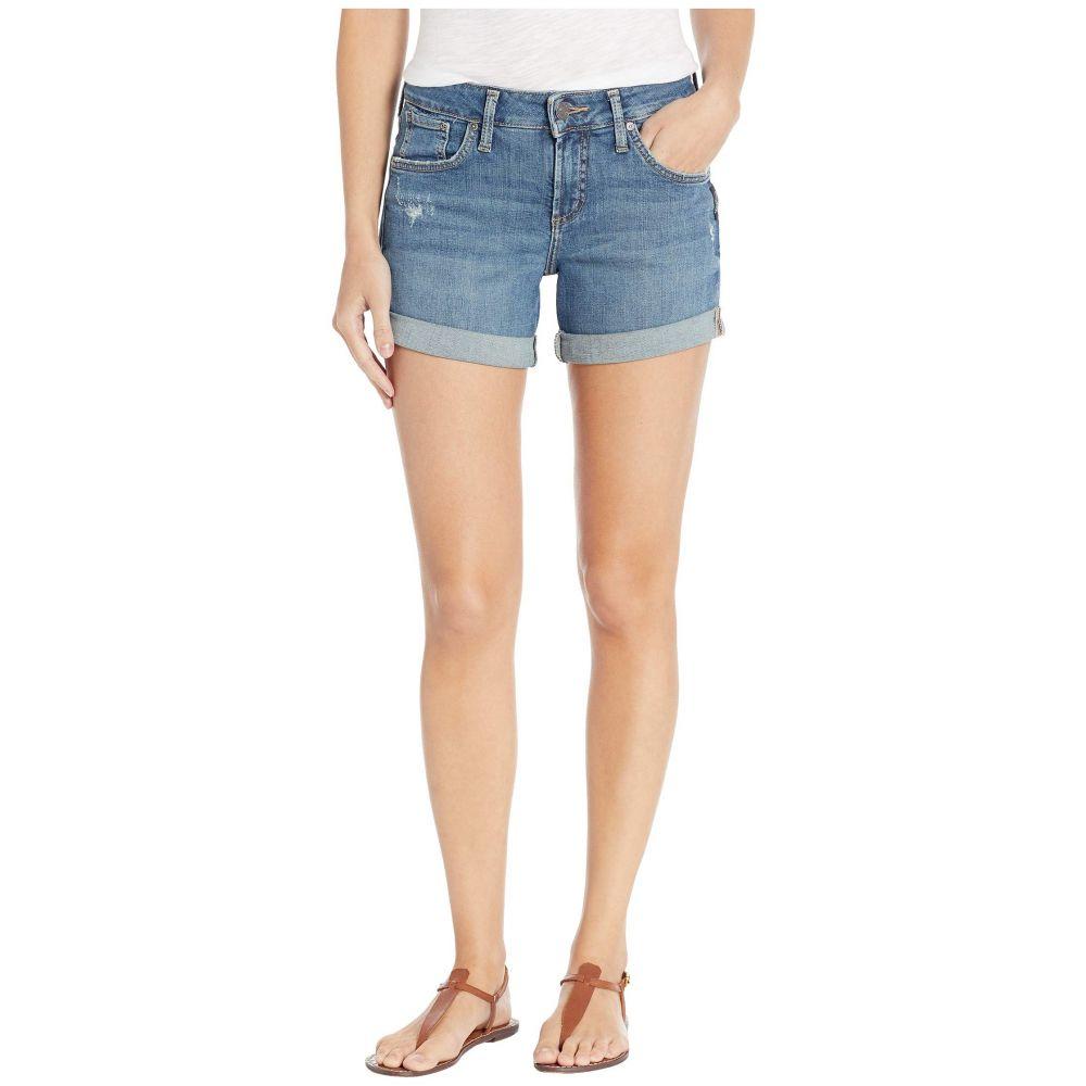 シルバー ジーンズ Silver Jeans Co. レディース ボトムス・パンツ ショートパンツ【Boyfriend Mid-Rise Shorts in Indigo L53608SJL354】Indigo