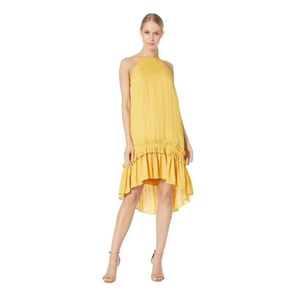 ホルストン ヘリテイジ Halston Heritage レディース ワンピース・ドレス ワンピース【Sleeveless Dress with Pleated Ruffle Hi-Lo Hem】Marigold 1