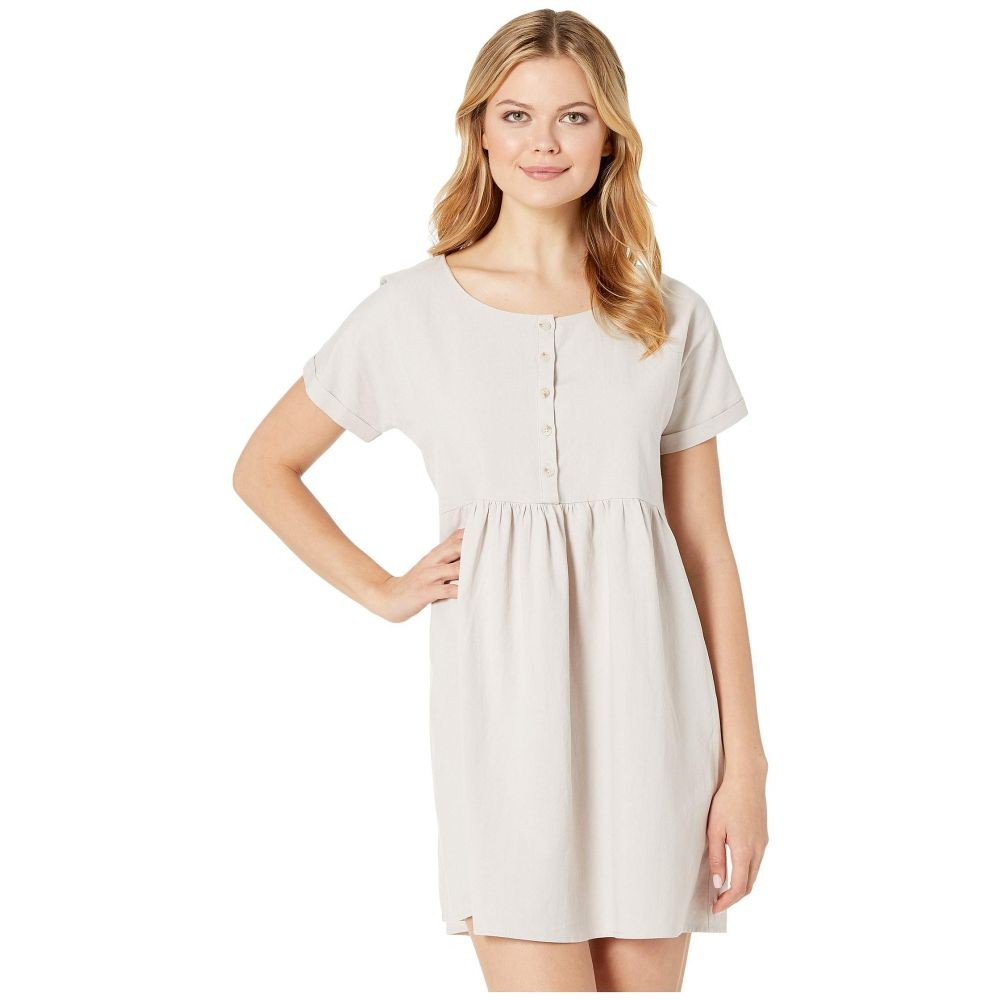 アメリカンローズ American Rose レディース ワンピース・ドレス ワンピース【Rosaleen Short Sleeve Button Up Dress】Natural