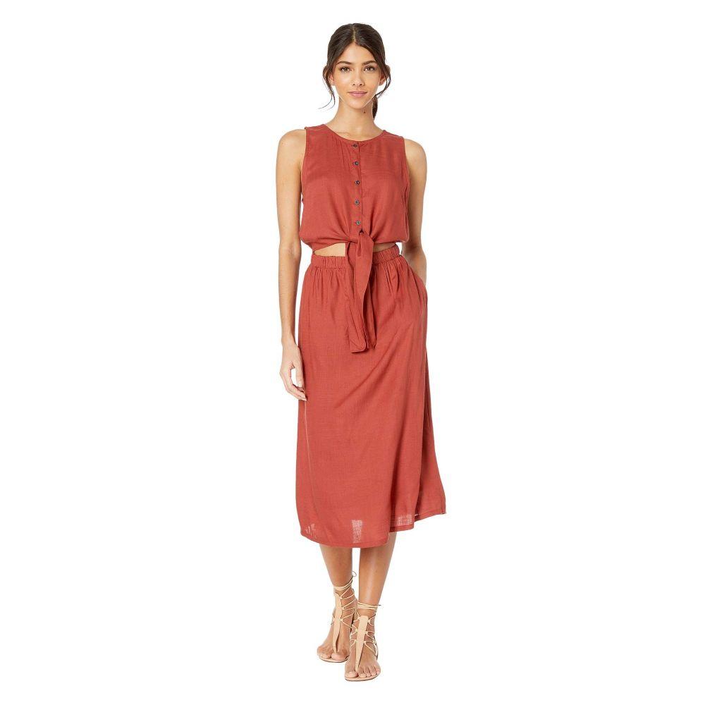 ルーカ RVCA レディース ワンピース・ドレス ワンピース【Arizona Dress】Burnt Red
