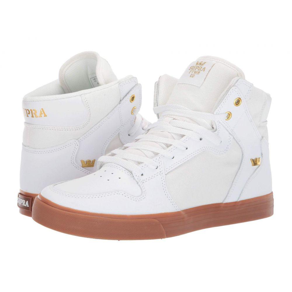 スープラ Supra レディース シューズ・靴 スニーカー【Vaider】White/Gold/Light Gum