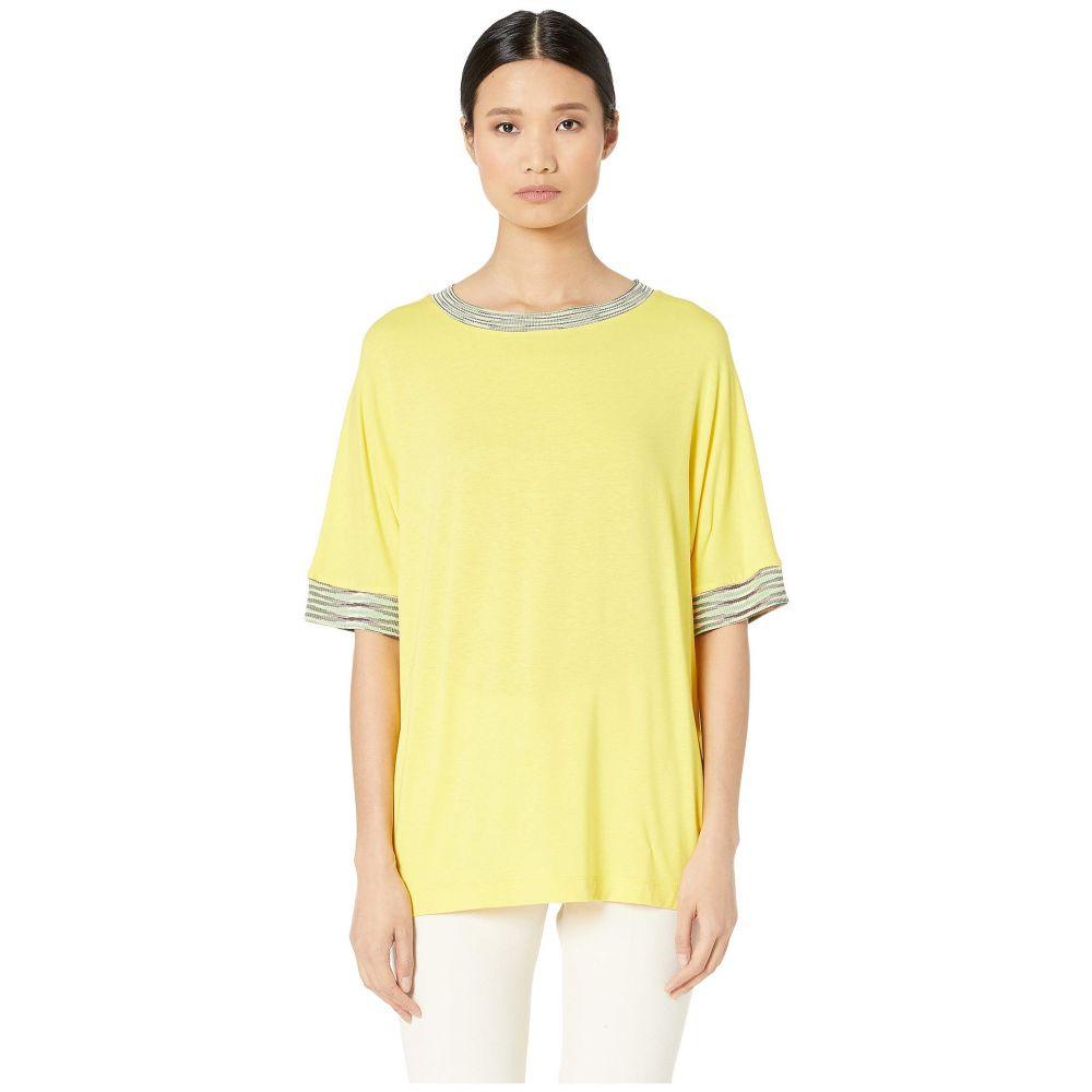 ミッソーニ M Missoni レディース トップス【Short Sleeve Jersey Top with Space Dye Trim At Sleeve】Yellow