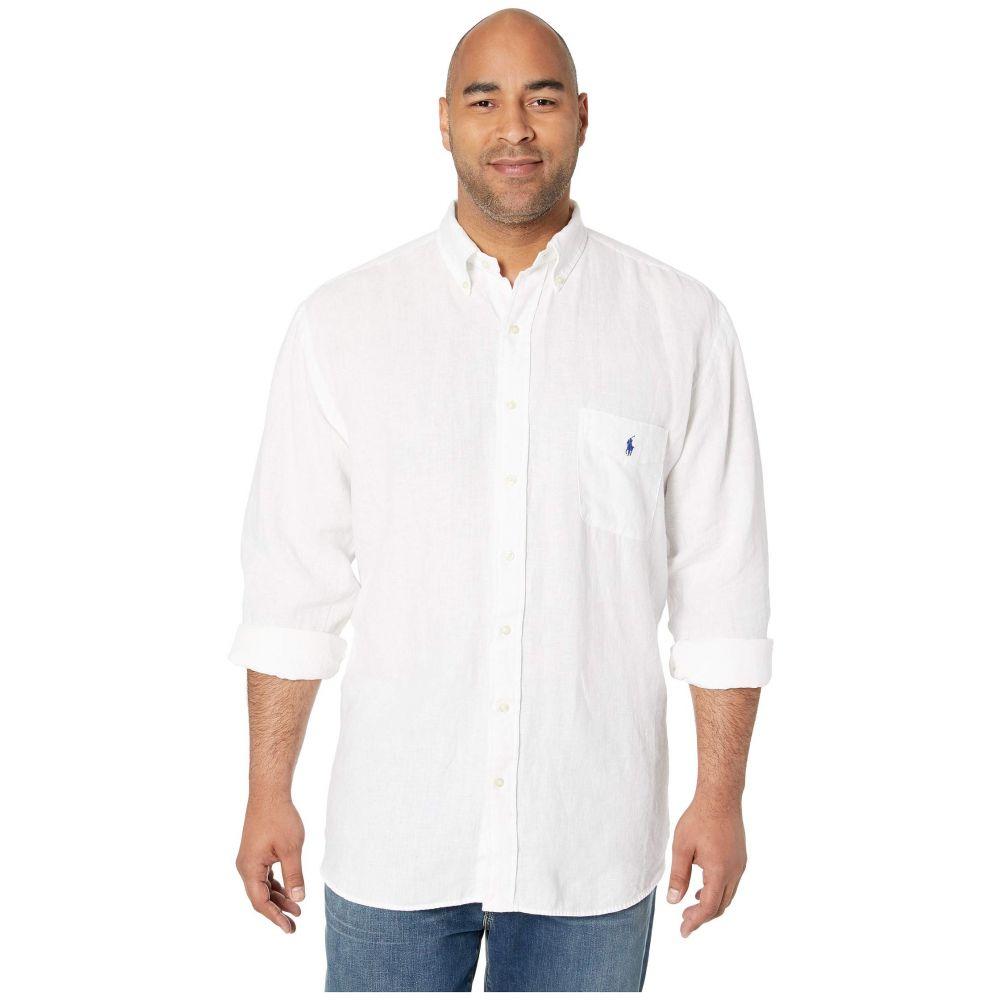 ラルフ ローレン Polo Ralph Lauren Big & Tall メンズ トップス シャツ【Big & Tall Long Sleeve Linen Woven Shirt】Pure White