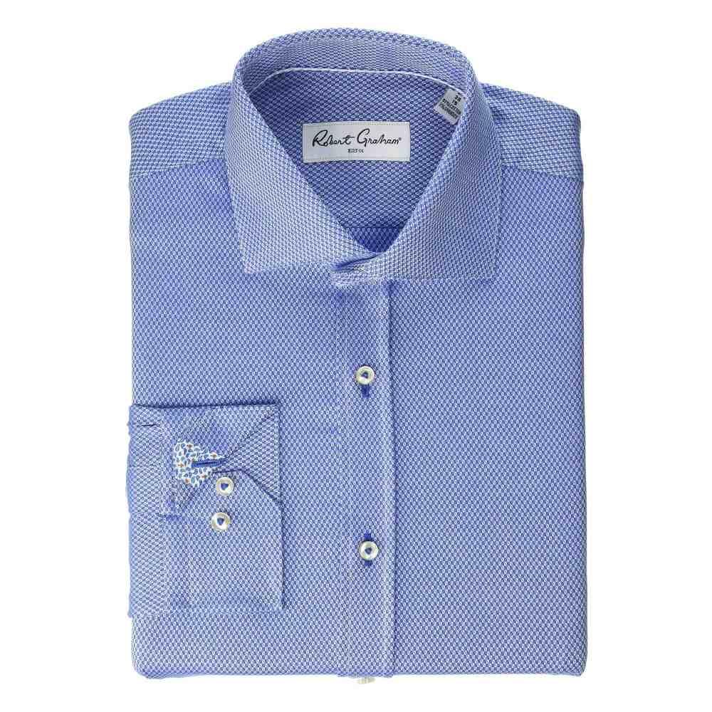 ロバートグラハム Robert Graham メンズ トップス シャツ【Carey Long Sleeve Stretch Dress Shirt】French Blue