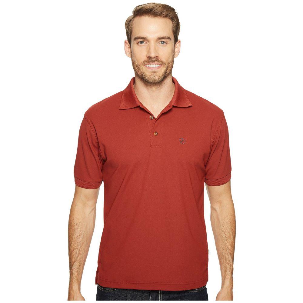 フェールラーベン Fjallraven メンズ トップス【Crowley Pique Shirt】Deep Red
