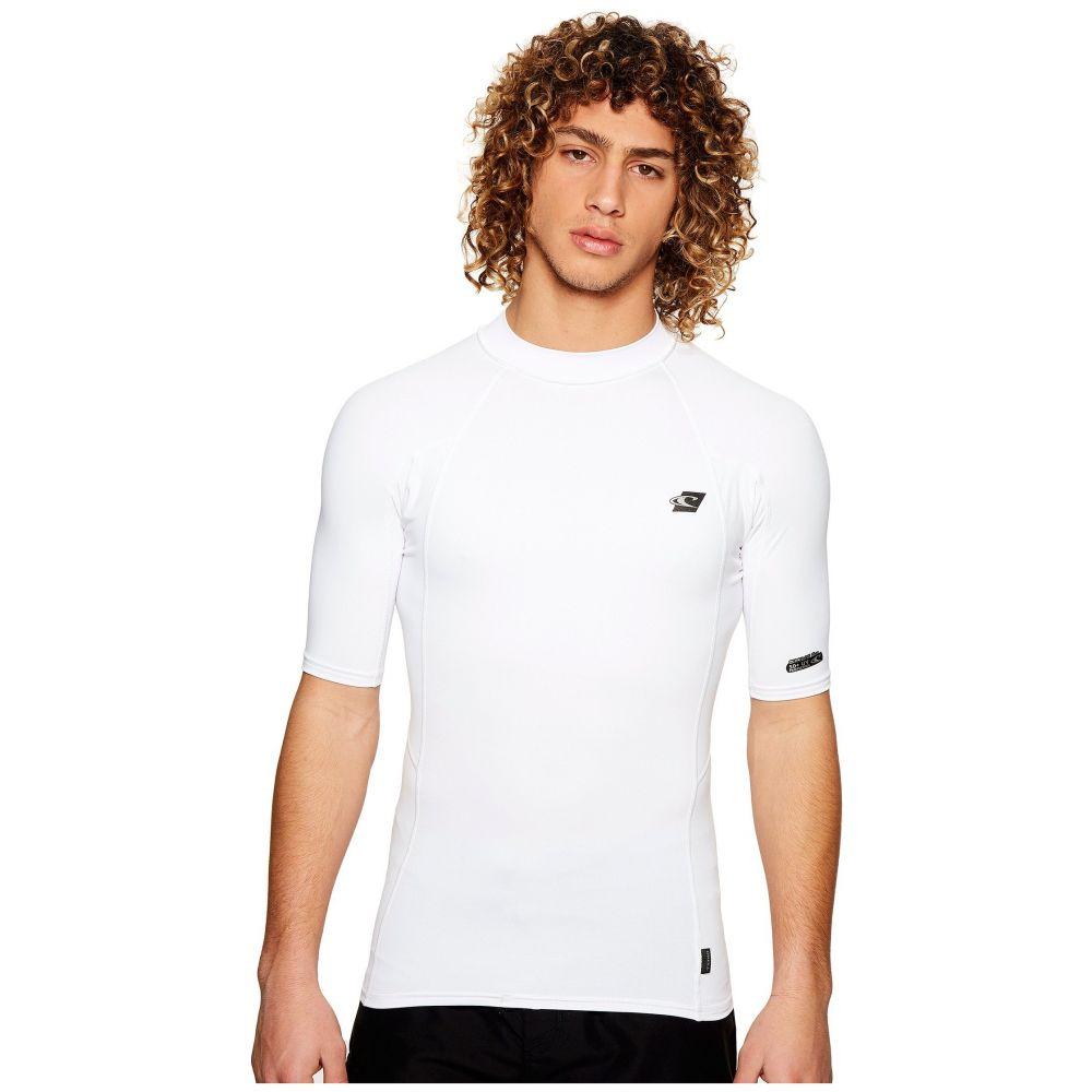 オニール O'Neill メンズ 水着・ビーチウェア ラッシュガード【Premium Short Sleeve Rashguard】White/White/White