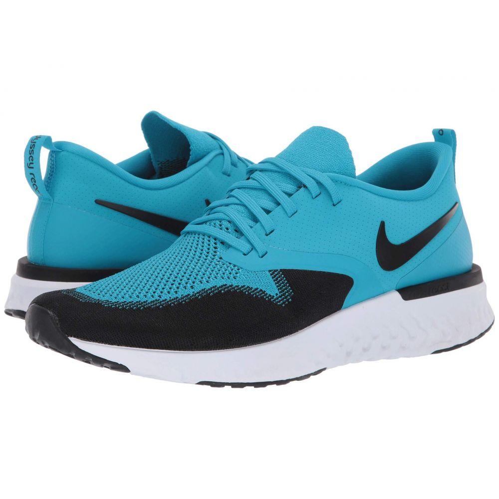 ナイキ Nike メンズ ランニング・ウォーキング シューズ・靴【Odyssey React Flyknit 2】Blue Lagoon/Black/White