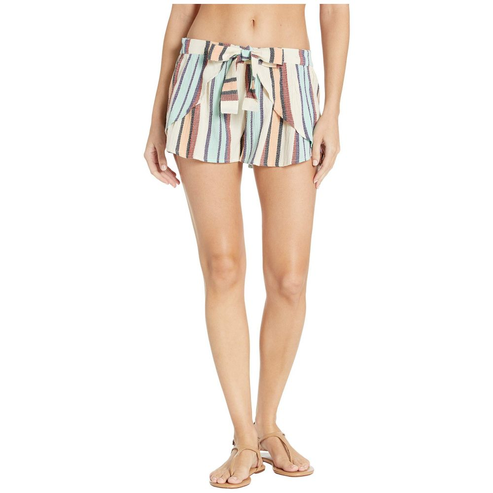 ロキシー Roxy レディース 水着・ビーチウェア ビーチウェア【Lemon Chill Yarn-Dye Shorts Cover-Up】Marshmallow Lemon Chill Stripe