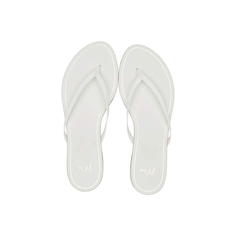 ジェイクルー J.Crew レディース シューズ・靴 ビーチサンダル【New Capri Leather Flip-Flop】White