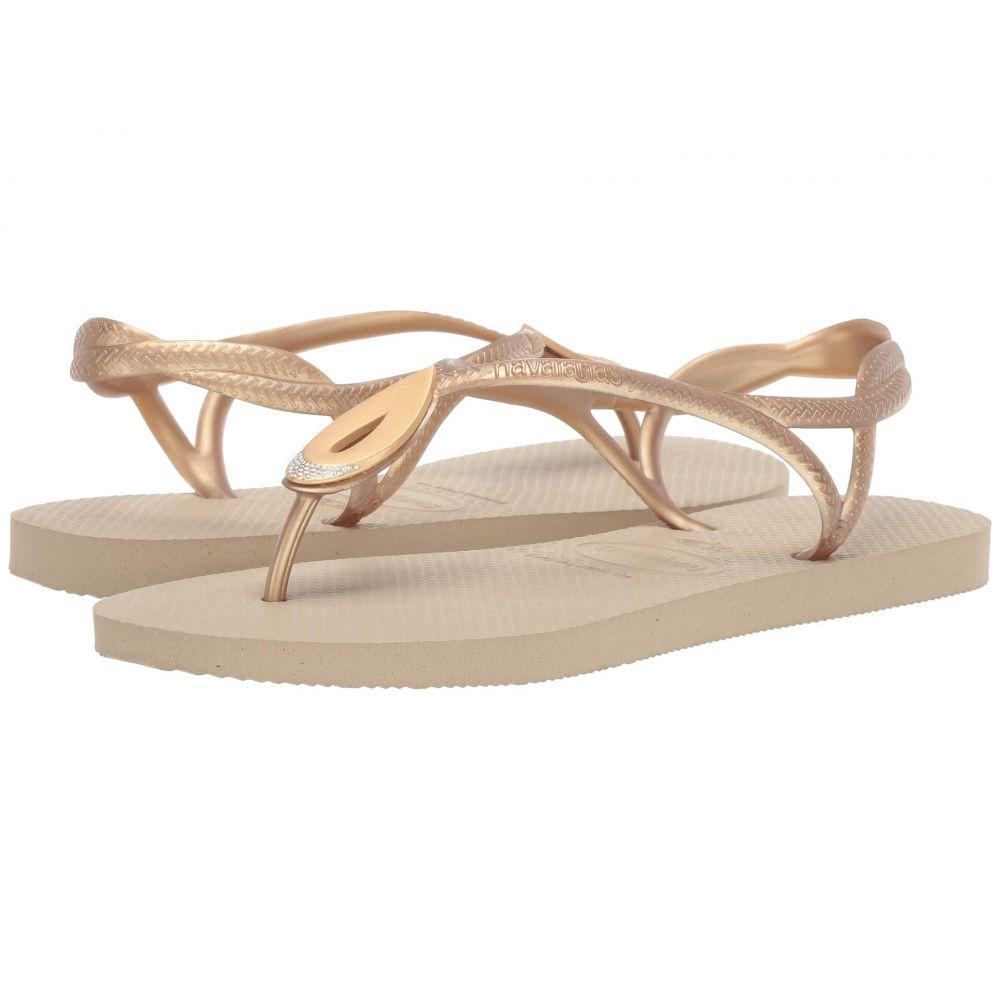 ハワイアナス Havaianas レディース シューズ・靴 ビーチサンダル【Luna Special Flip Flops】Sand Grey/Light Golden