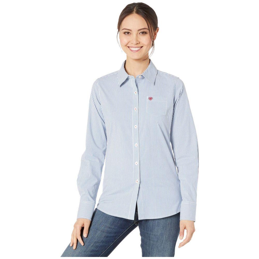 アリアト Ariat レディース トップス ブラウス・シャツ【Kirby Stretch Shirt】Classic Blue Stripe