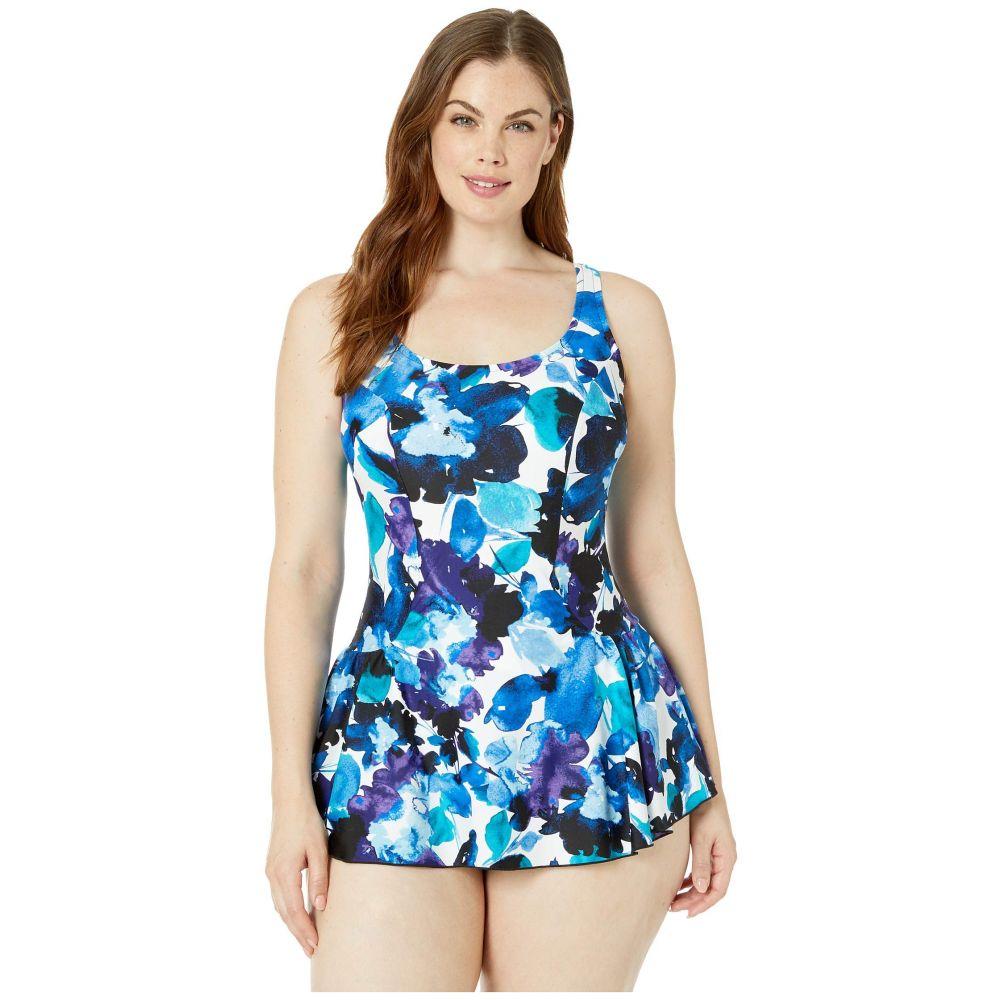 マキシン オブ ハリウッド Maxine of Hollywood Swimwear レディース 水着・ビーチウェア ワンピース【Waterflower Princess Seam Swimdress】Multicolored
