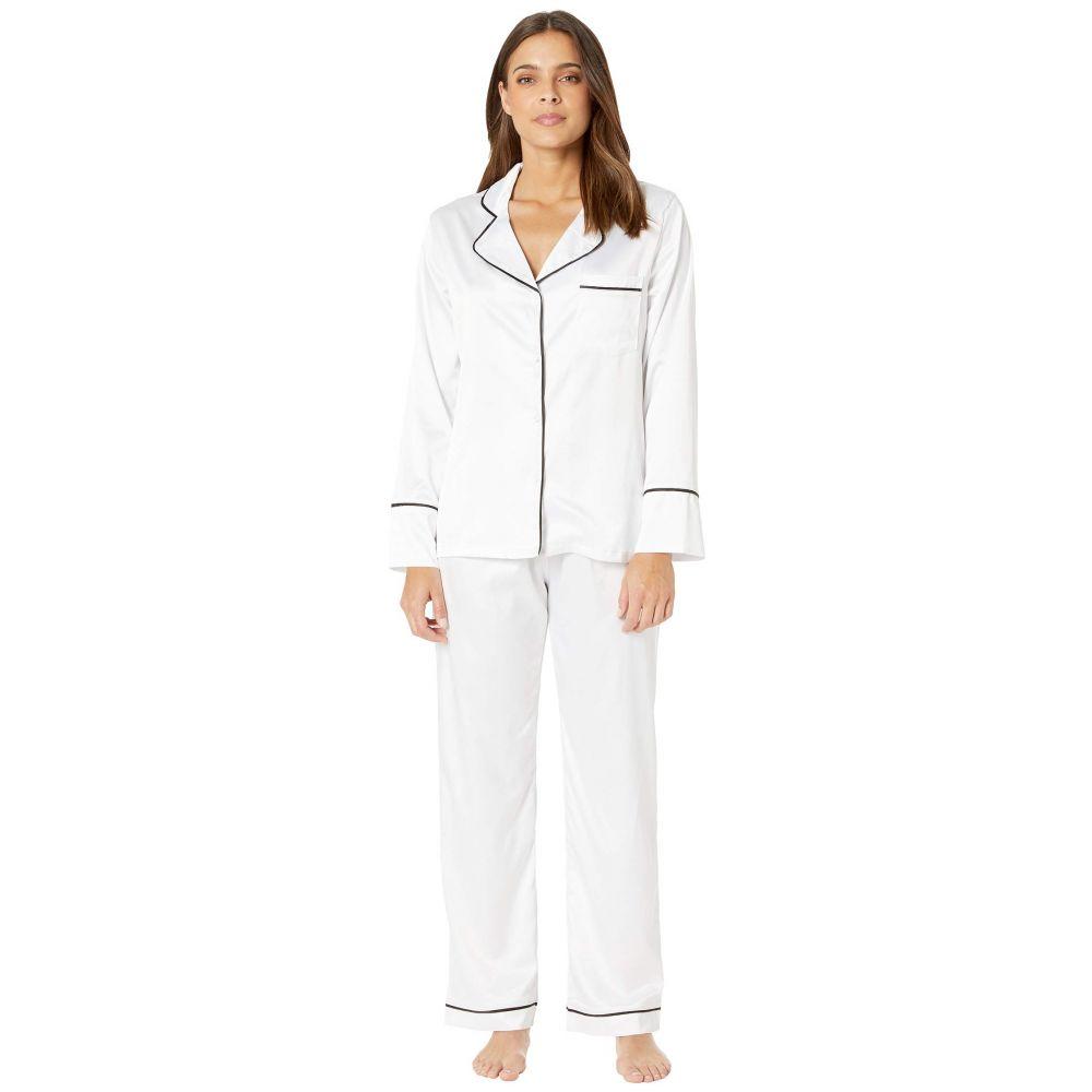 クービー Coobie レディース インナー・下着 パジャマ・上下セット【Undie Couture by Satin Pajama Set】White