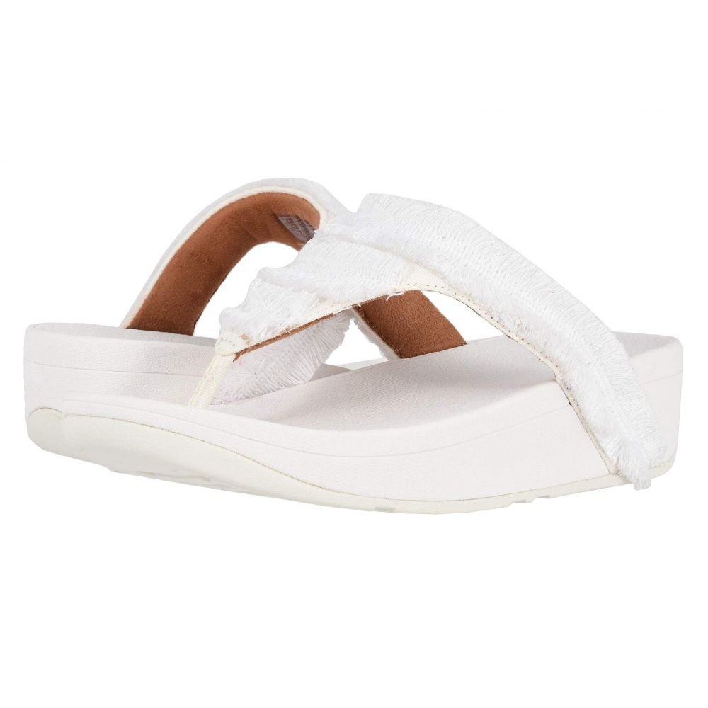フィットフロップ FitFlop レディース シューズ・靴 ビーチサンダル【Lottie Fringe】Urban White/White