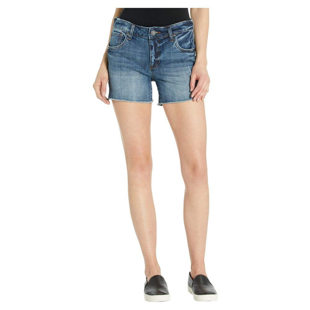 カットフロムザクロス KUT from the Kloth レディース ボトムス・パンツ ショートパンツ【Gidget Fray Shorts in Openminded w/ Medium Base Wash】Openminded w/ Medium Base Wash