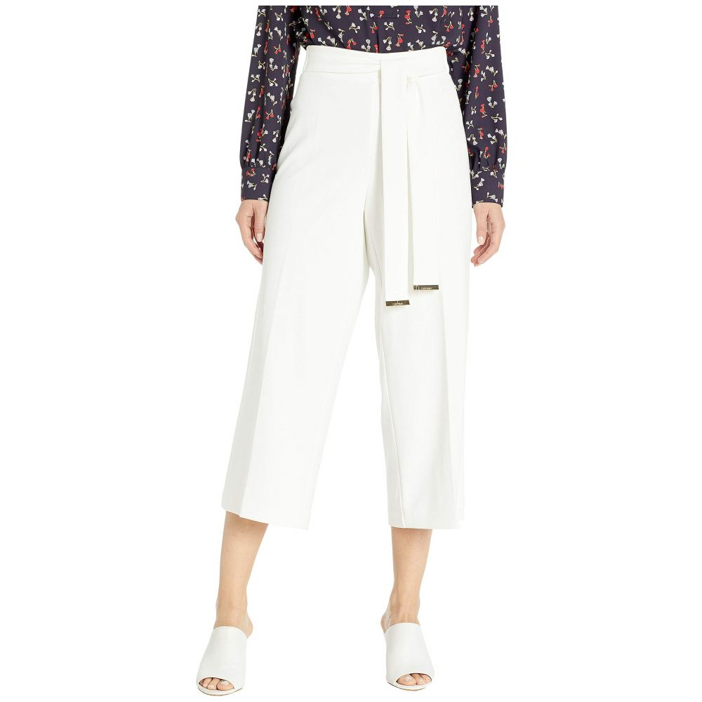 カルバンクライン Calvin Klein レディース ボトムス・パンツ【Culotte w/ Tie Belt】Soft White