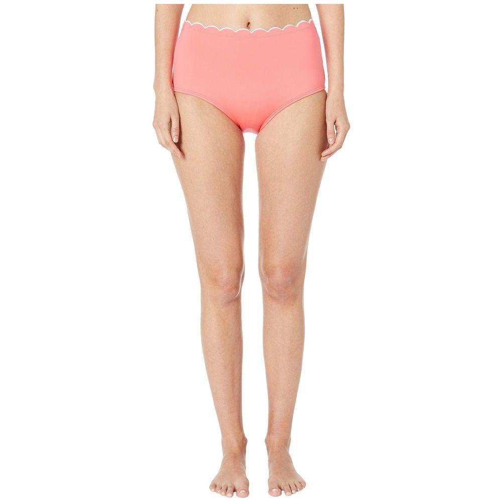 ケイト スペード Kate Spade New York レディース 水着・ビーチウェア ボトムのみ【Contrast Scalloped High-Waist Bikini Bottom】Bright Peony
