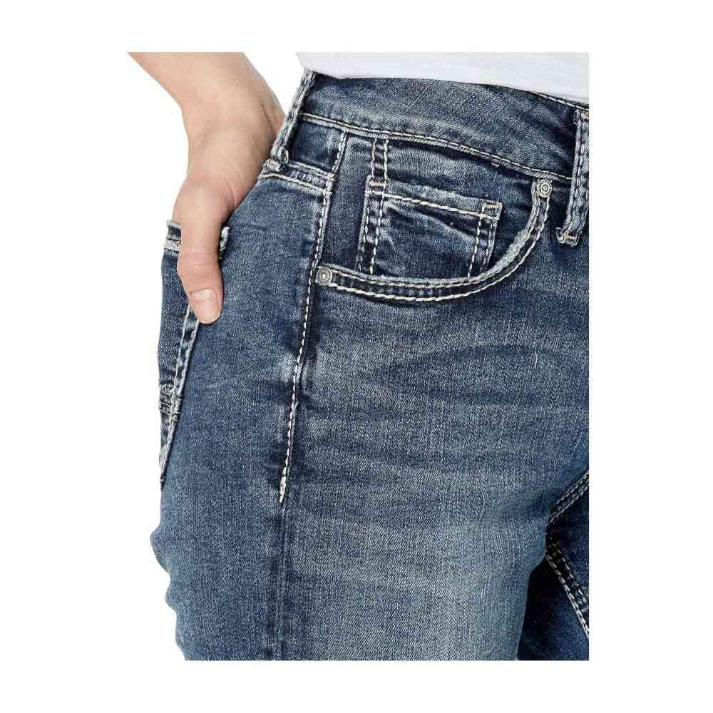 Indigo Silver Jeans Co. ジーンズ レディース ボトムス・パンツ 【Avery High-Rise Curvy Fit Skinny Jeans in Indigo L94116SSX349】 シルバー ジーンズ・デニム