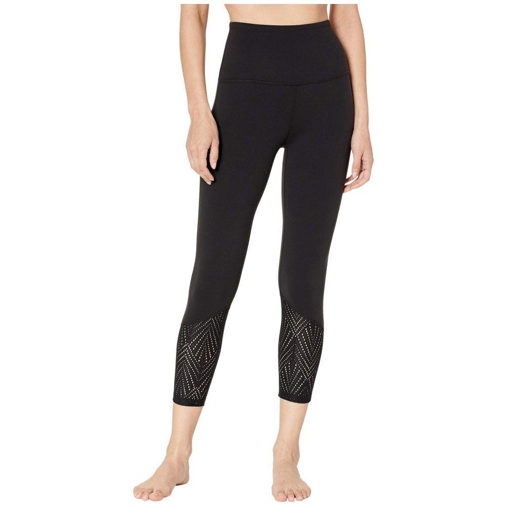 ビヨンドヨガ Beyond Yoga レディース インナー・下着 スパッツ・レギンス【Mesh In Line High-Waisted Capri Leggings】Jet Black