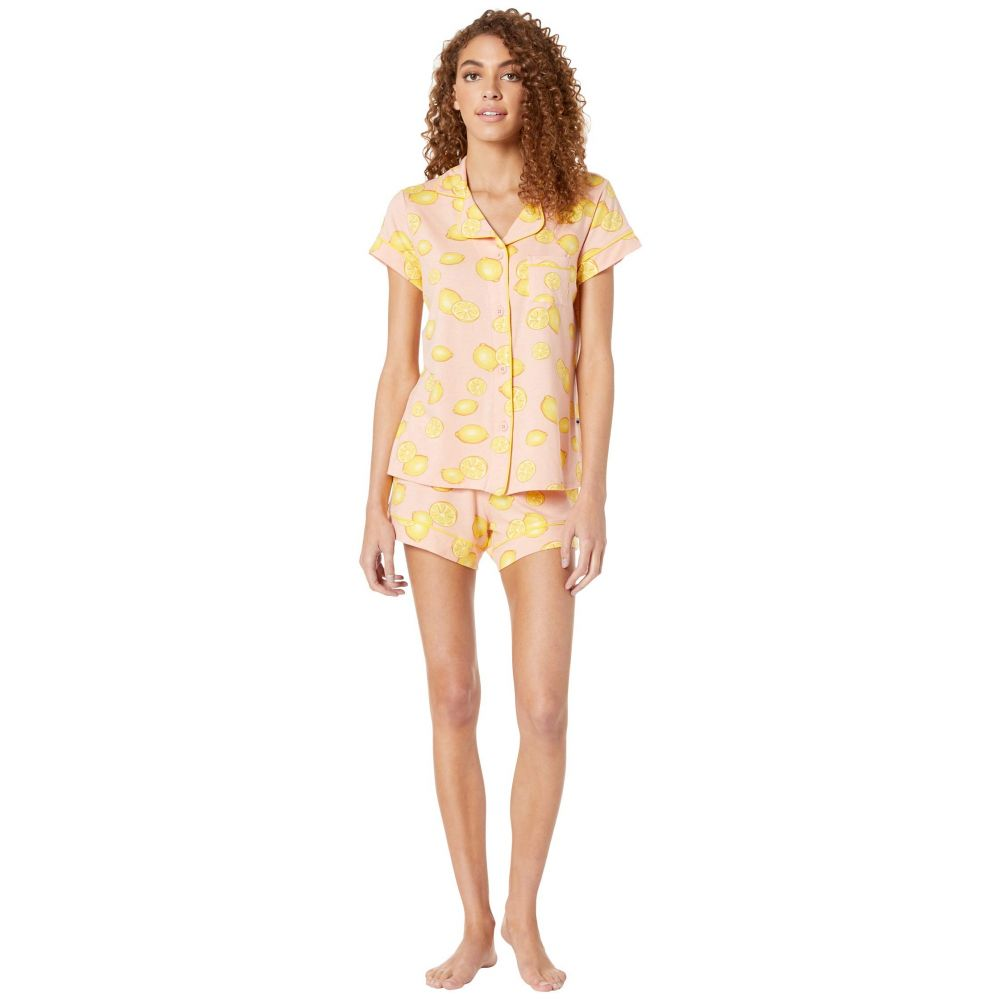 ザ キャッツ パジャマズ The Cat's Pajamas レディース インナー・下着 パジャマ・上下セット【Lemon Short Pajama Set】Pink