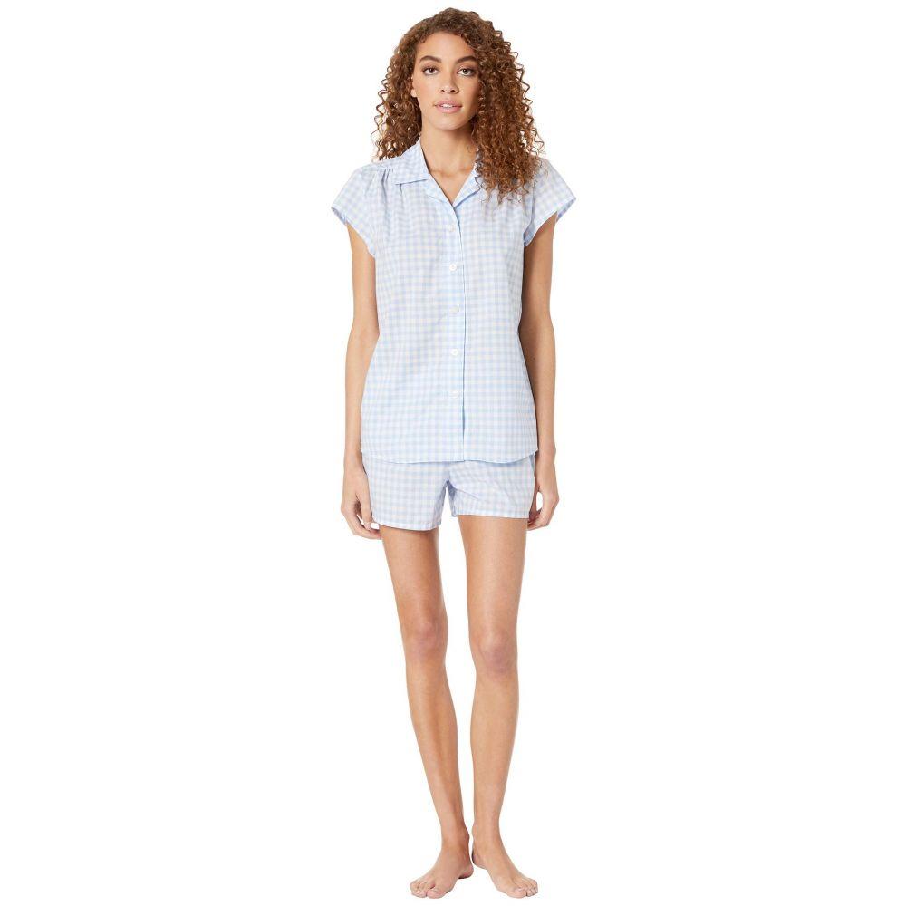ザ キャッツ パジャマズ The Cat's Pajamas レディース インナー・下着 パジャマ・上下セット【Gingham Short Set】Blue