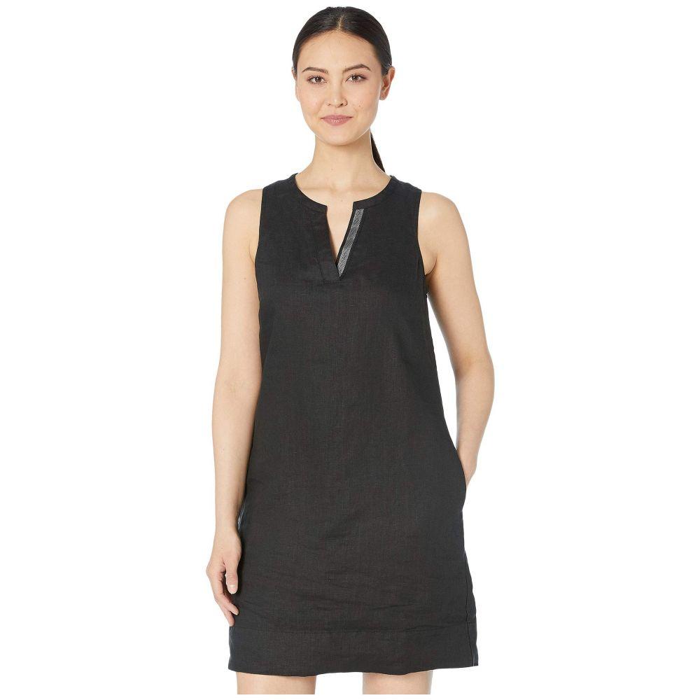 トミー バハマ Tommy Bahama レディース ワンピース・ドレス ワンピース【Seaglass Linen Shift Dress】Black
