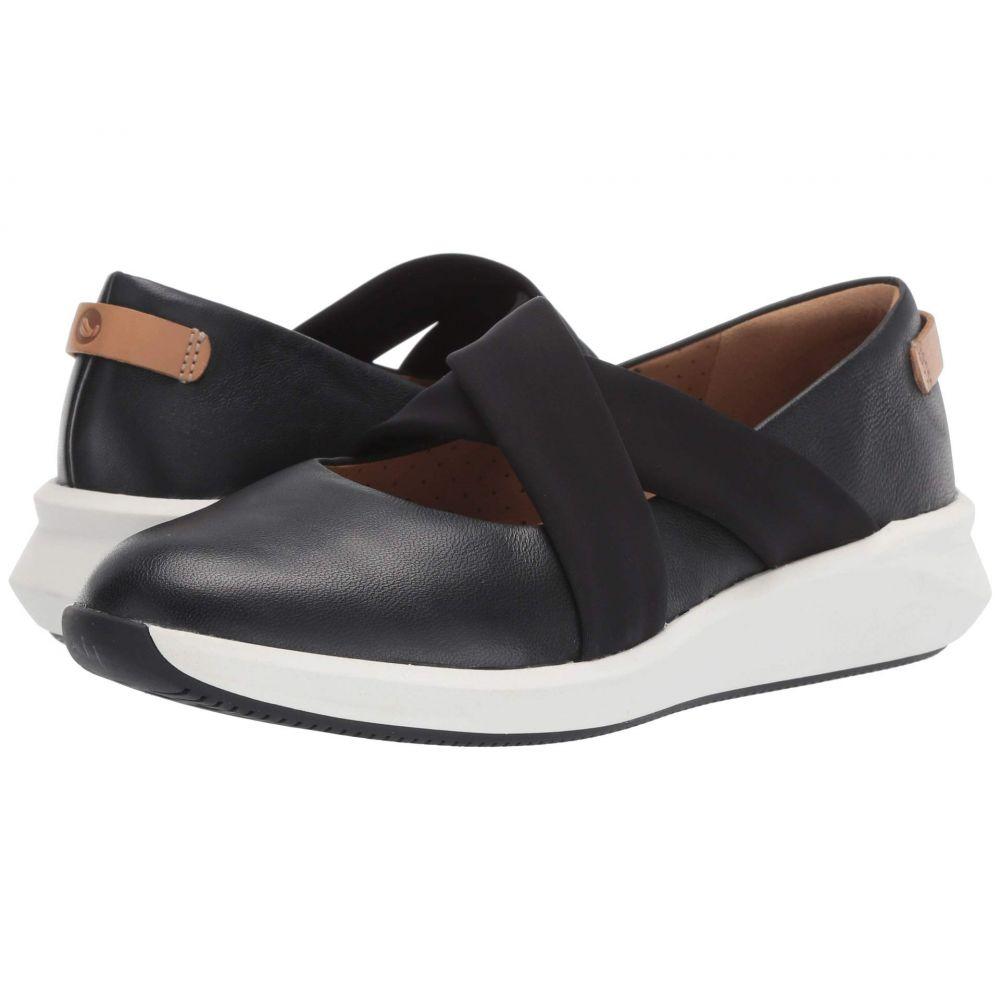 クラークス Clarks レディース シューズ・靴 スリッポン・フラット【Un Rio Cross】Black Leather