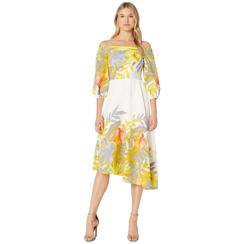 ドナ モルガン Donna Morgan レディース ワンピース・ドレス ワンピース【Off the Shoulder Floral Print Dress】Ivory/Mustard Multi