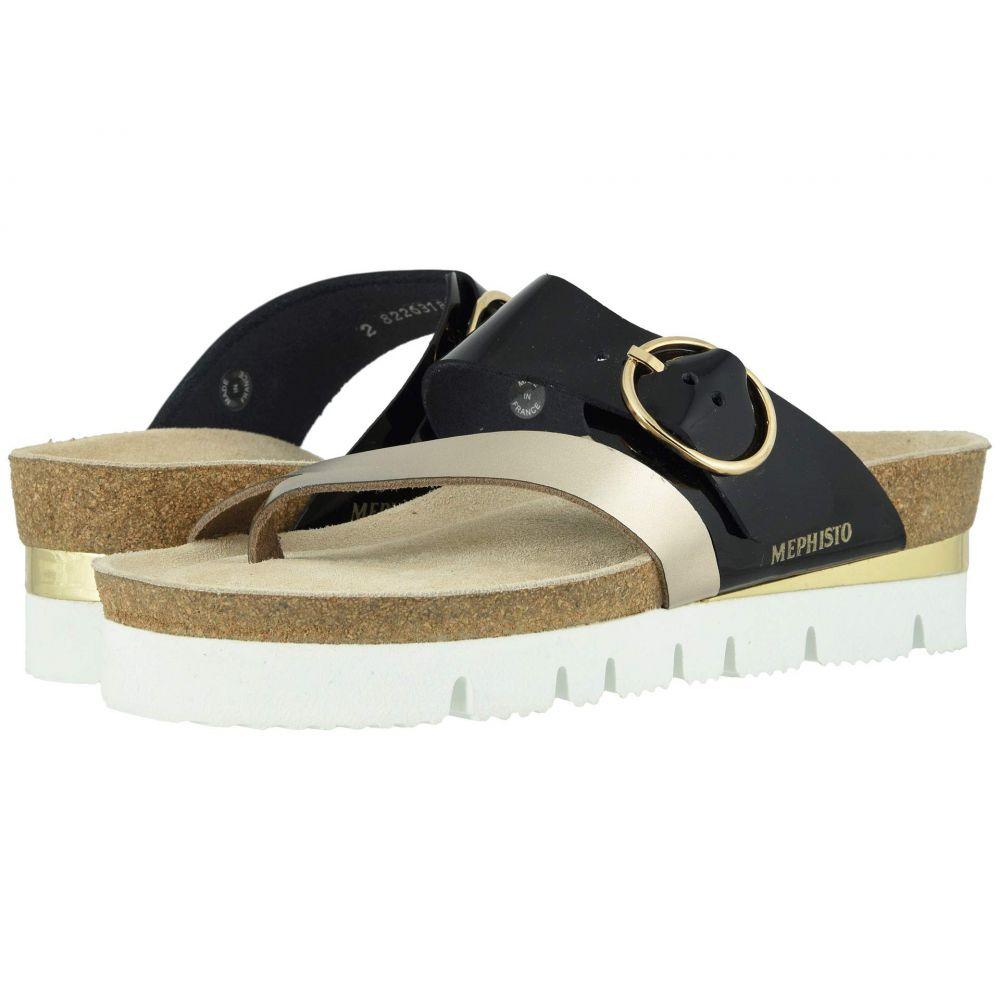 レディース サンダル・ミュール【Vik】Platinum Patent シューズ・靴 Star/Black メフィスト Mephisto