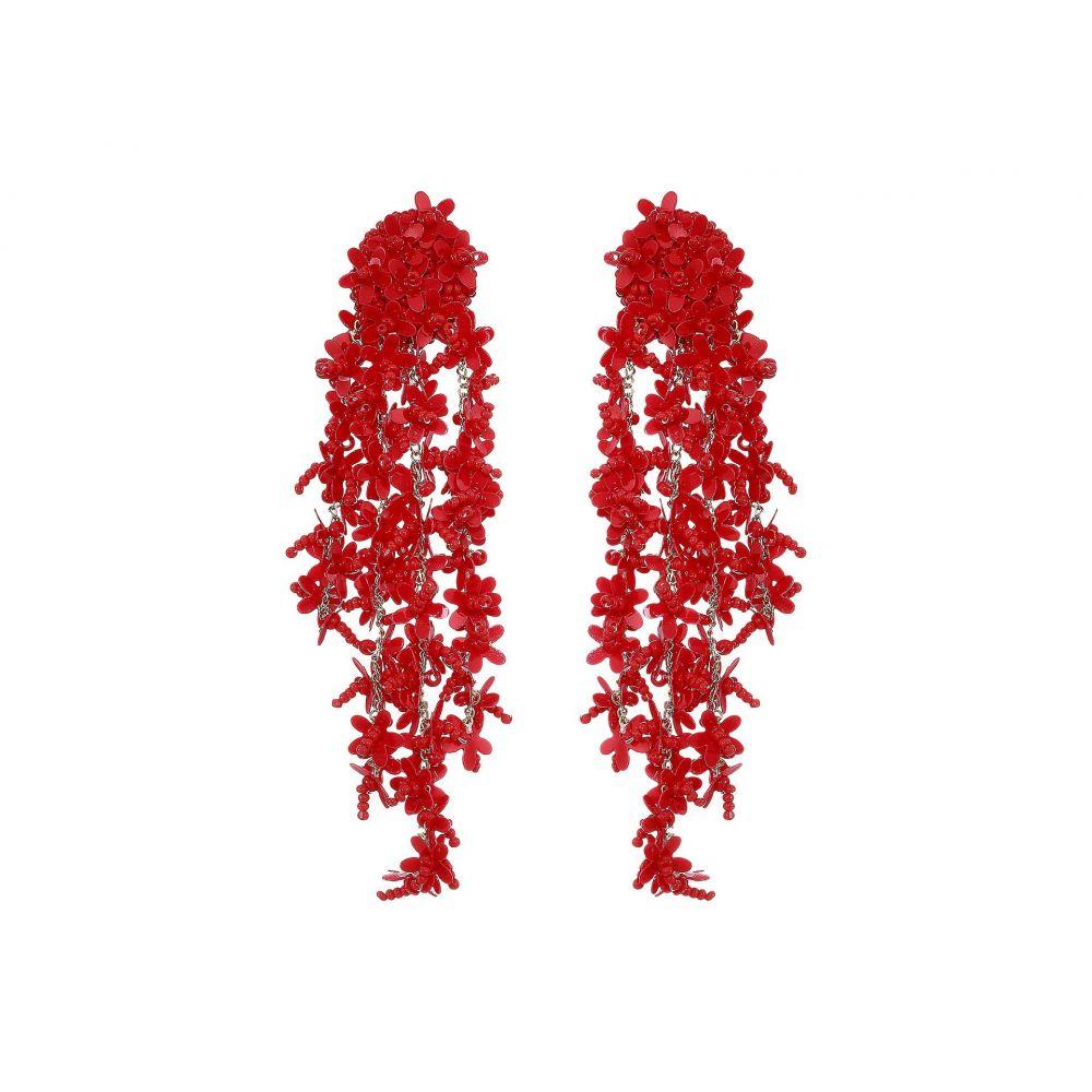 オスカー デ ラ レンタ Oscar de la Renta レディース ジュエリー・アクセサリー イヤリング・ピアス【Beaded Cascade Drop Earrings】Cranberry