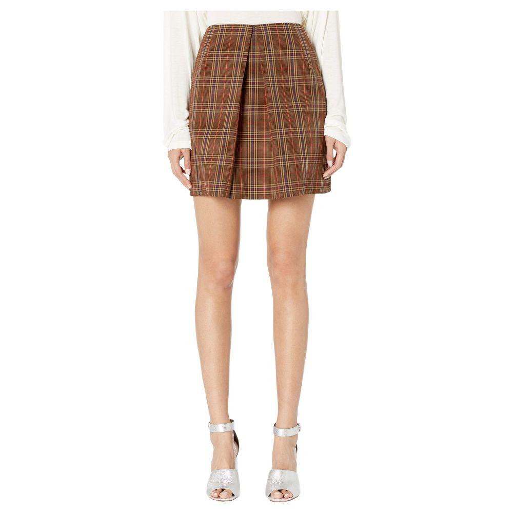 メゾン マルジェラ MM6 Maison Margiela レディース スカート【Center Pleat Skirt】Brown Check