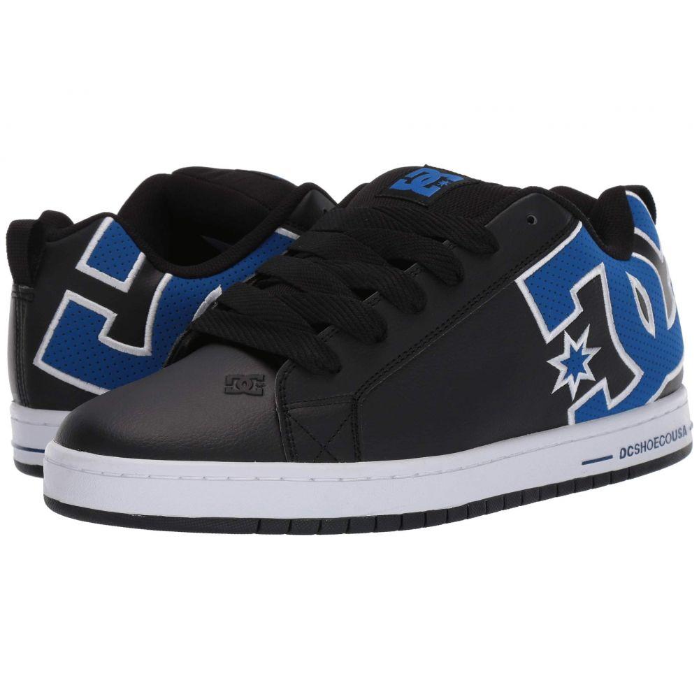 DC Mens Court Graffik Se Skate Shoe Black//Blue 10.5 M US