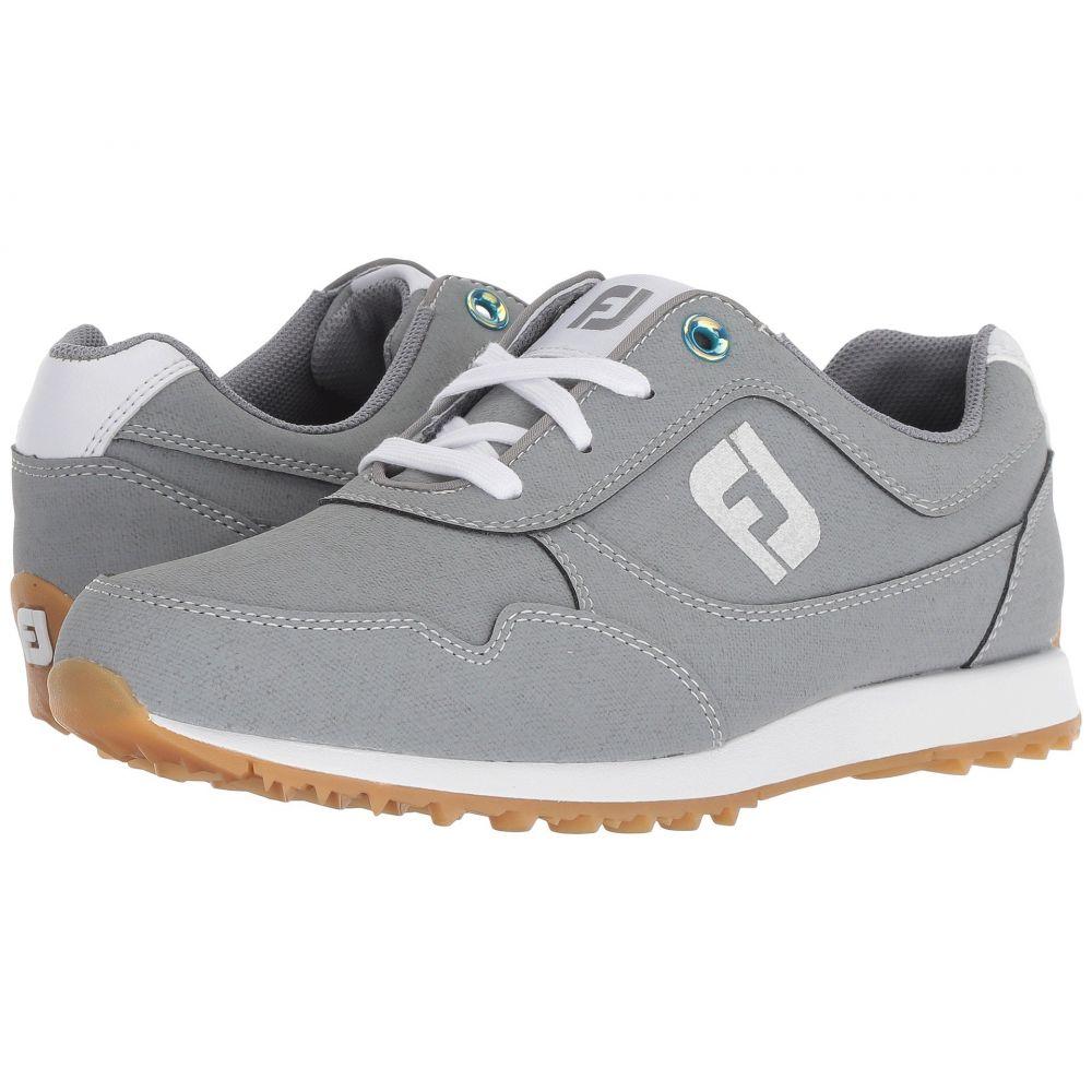 フットジョイ FootJoy レディース ゴルフ シューズ・靴【Sport Retro Spikeless Street Sneaker】All Over Grey