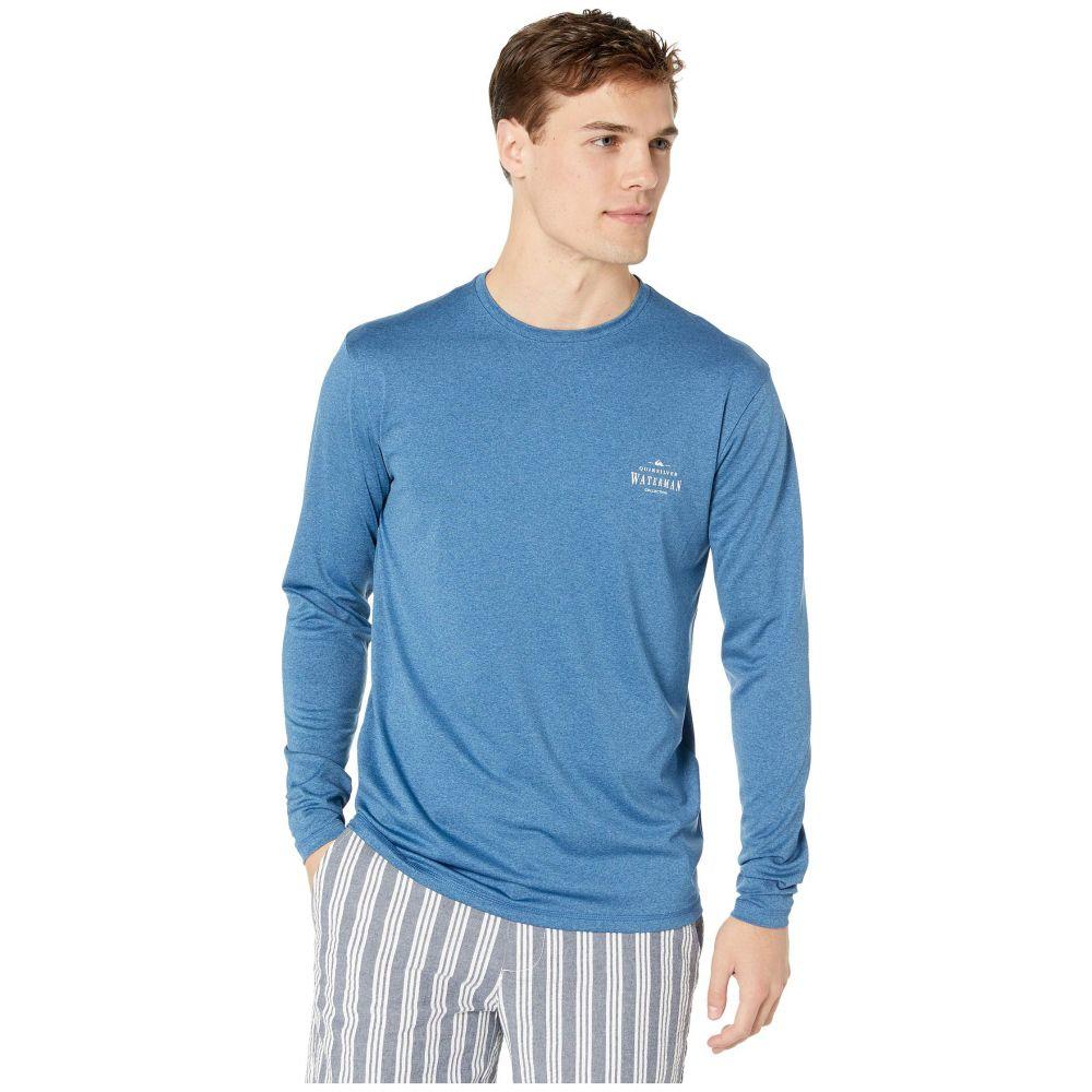 クイックシルバー Quiksilver Waterman メンズ 水着・ビーチウェア ラッシュガード【Watermarked Long Sleeve Surf Tee Rashguard】Monaco Blue