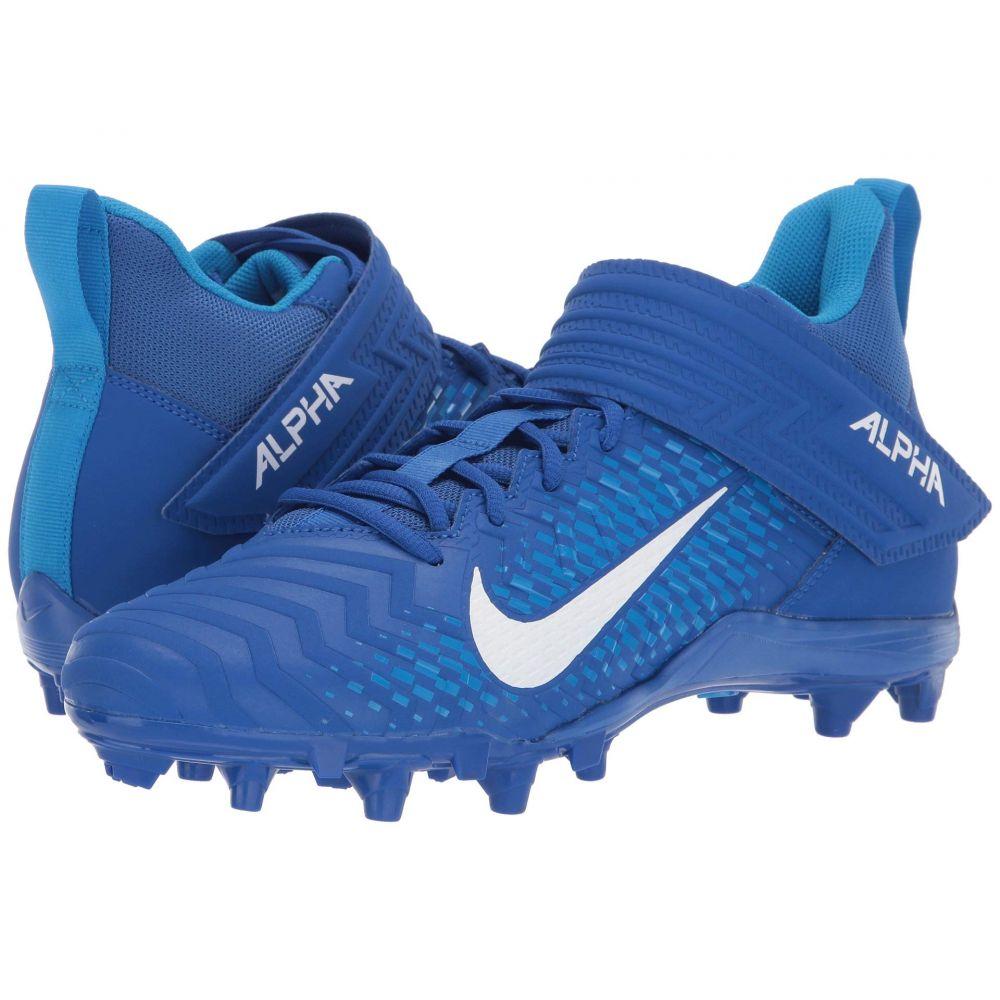 ナイキ Nike メンズ アメリカンフットボール シューズ・靴【Alpha Menace Varsity 2】Game Royal/White/Photo Blue/Photo Blue