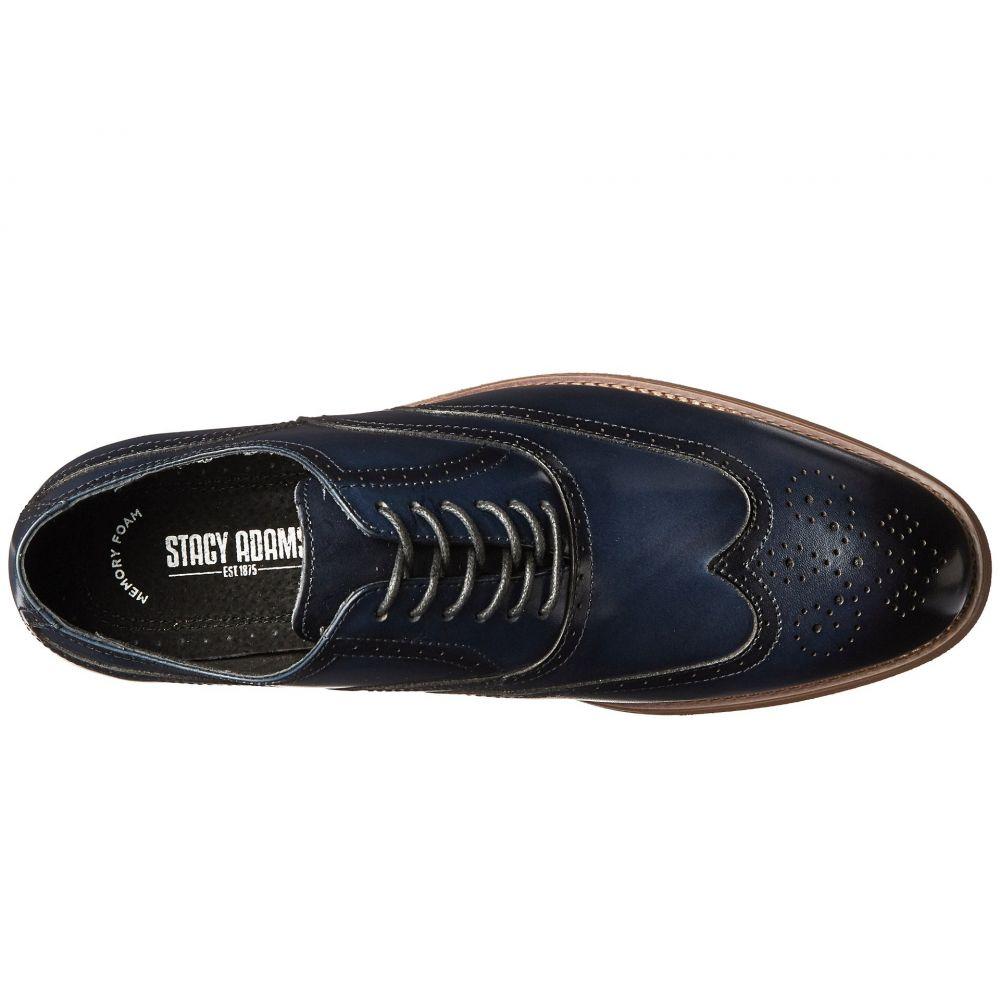 Stacy Adams Men/'s Dunbar Wingtip Oxford Shoes Indigo// Size 11