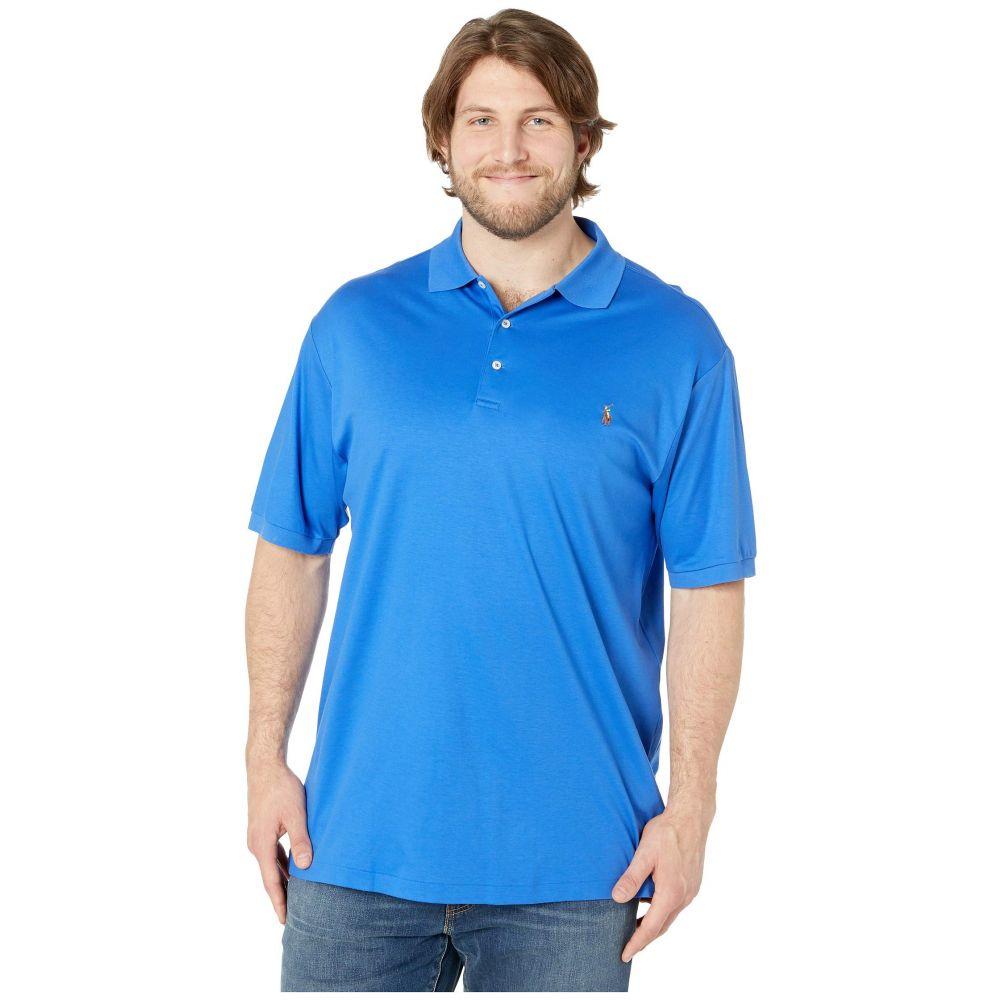ラルフ ローレン Polo Ralph Lauren Big & Tall メンズ トップス ポロシャツ【Big & Tall Pima Polo Short Sleeve Custom Slim Fit Polo】New Iris Blue