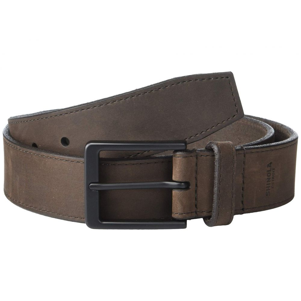 シャイノーラ Shinola Detroit メンズ ベルト【1 1/2' Utility Belt】Dark Brown