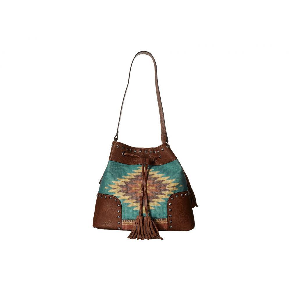 エムアンドエフ ウエスタン M&F Western レディース バッグ【Zapotec Bucket Bag】Brown