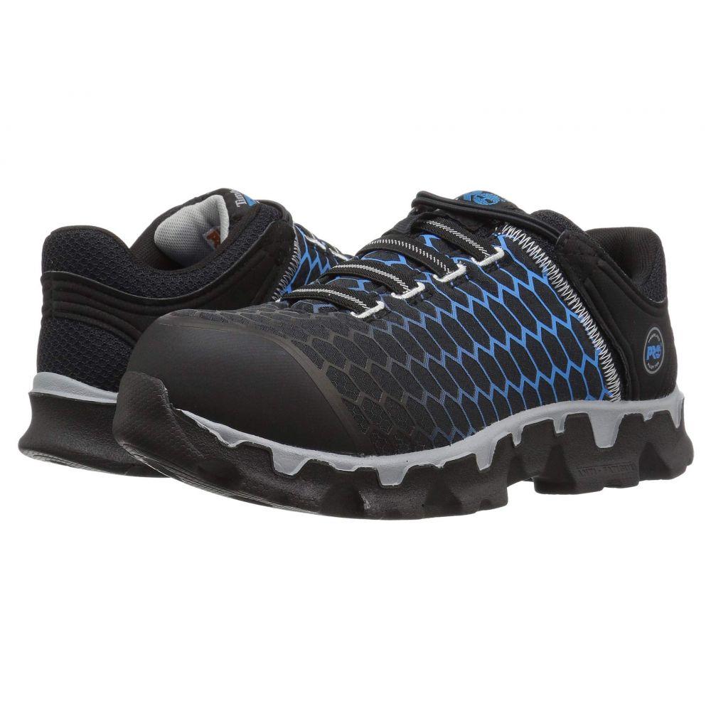 ティンバーランド Timberland PRO レディース ハイキング・登山 シューズ・靴【Powertrain Sport Alloy Safety Toe Slip-On SD+】Black/Blue Ripstop Nylon