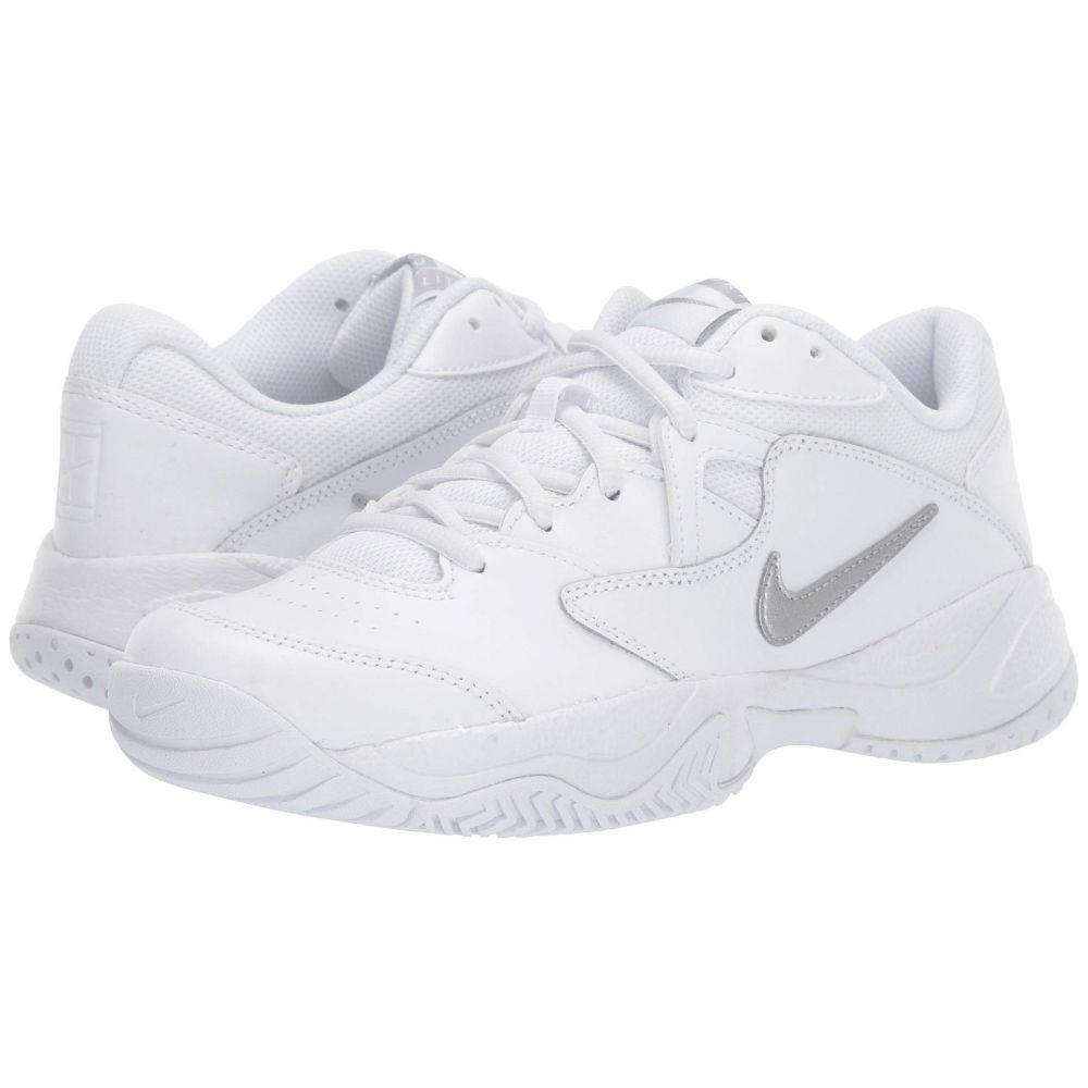ナイキ Nike レディース テニス シューズ・靴【Court Lite 2】White/Metallic Silver/White