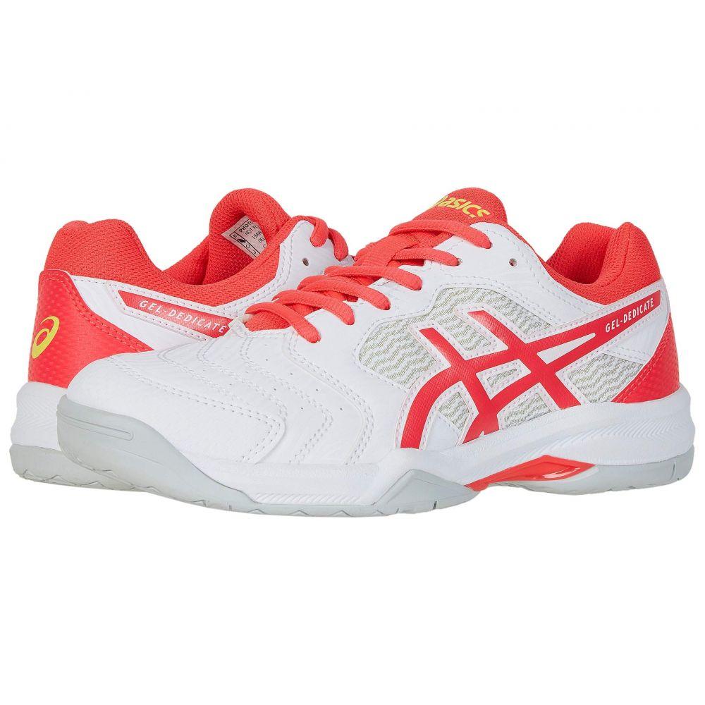 アシックス ASICS レディース テニス シューズ・靴【GEL-Dedicate 6】White/Laser Pink