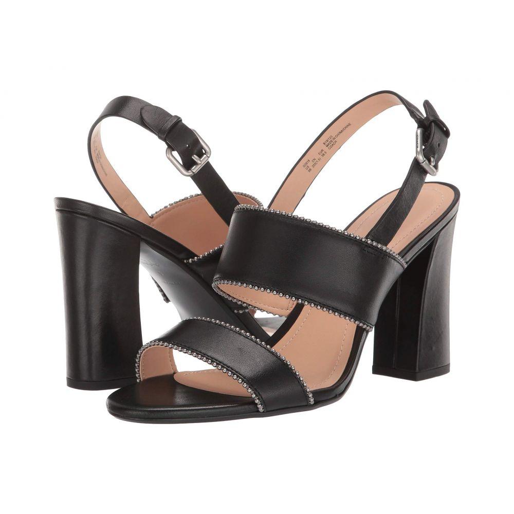 コーチ COACH レディース シューズ・靴 サンダル・ミュール【Rylie Beadchain Heel Sandal】Black Leather